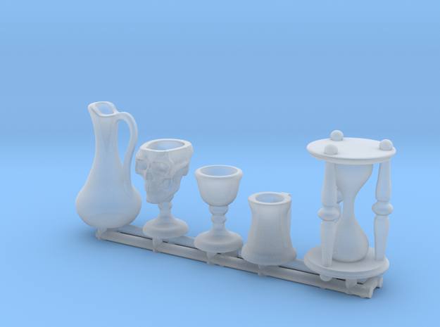 Drinkware: Skull Chalice and Hourglass -1:24 scale