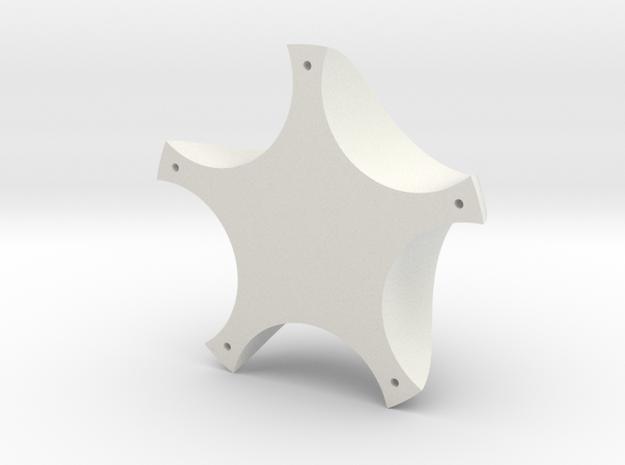 Balance Board Bottom Bob in White Natural Versatile Plastic