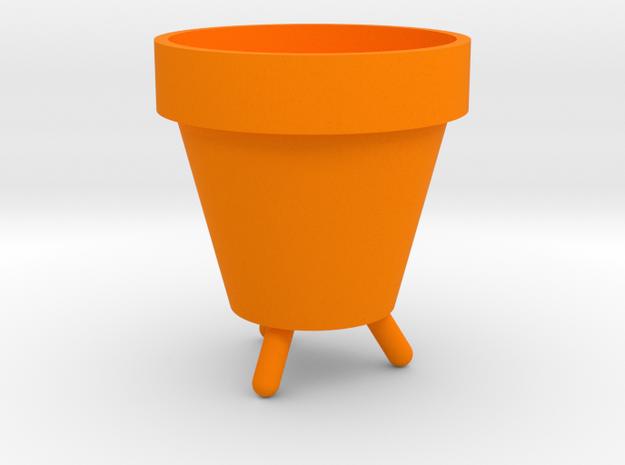 Raised Pot Planter in Orange Processed Versatile Plastic