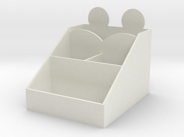 106102104收納盒2 in White Natural Versatile Plastic: Small