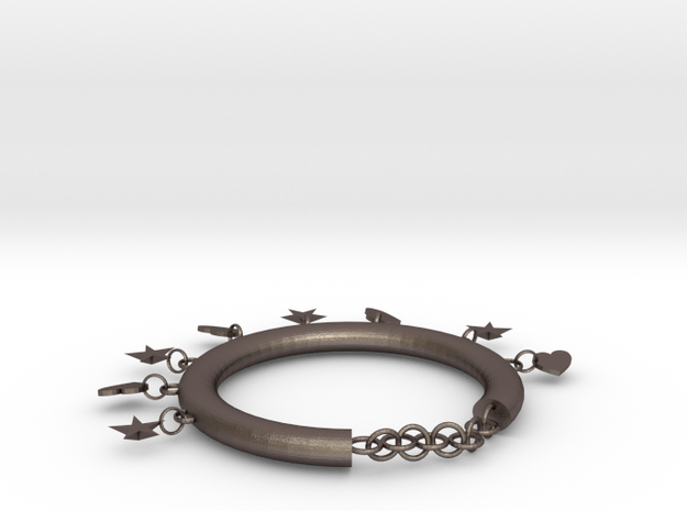 Foot chains in Polished Bronzed Silver Steel