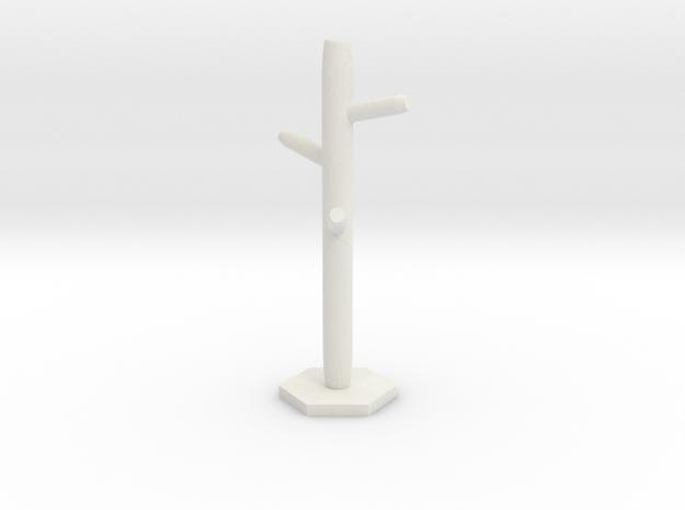 Hanger in White Premium Versatile Plastic