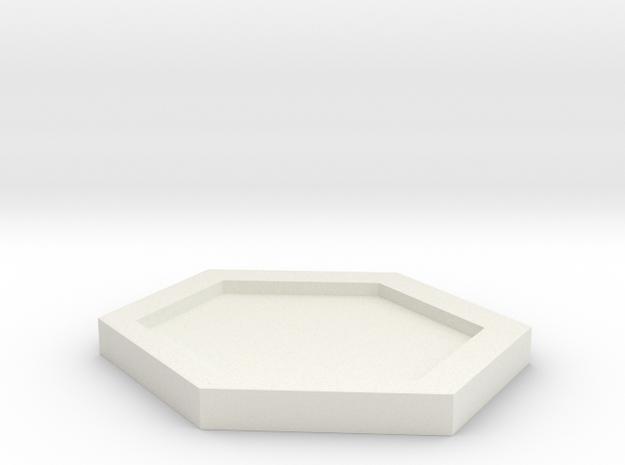 杯墊 in White Strong & Flexible: Small