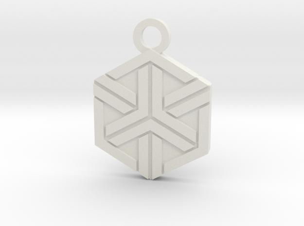House of Ishida Charm in White Natural Versatile Plastic