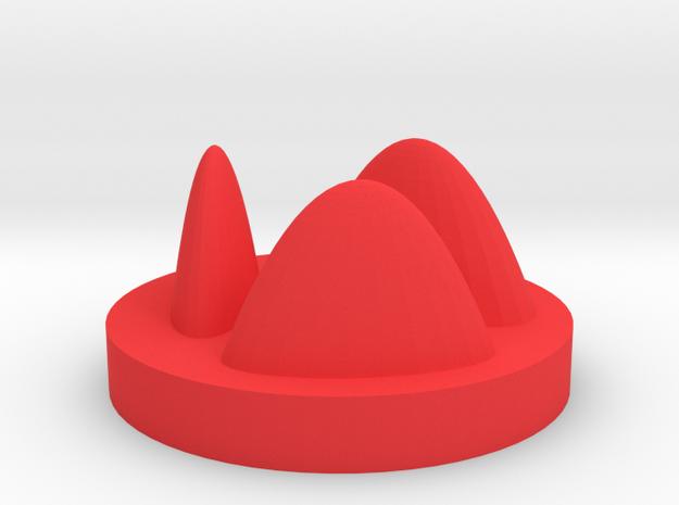 Peaks and valleys in Red Processed Versatile Plastic