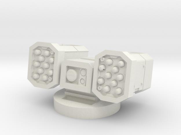 MK1 Shrike Round missile Turret in White Natural Versatile Plastic
