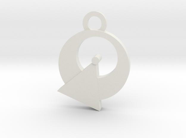 Vulcan Reversible Charm in White Natural Versatile Plastic