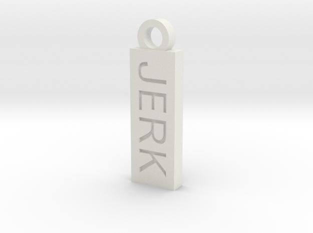 Jerk Bitch Reversible Charm in White Natural Versatile Plastic