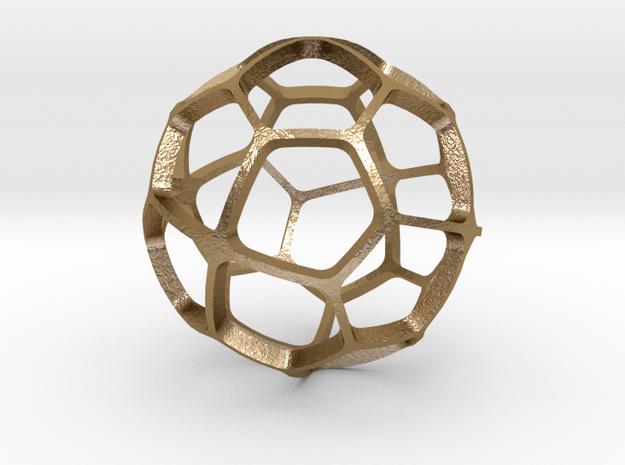 PENTAGONAL_ICOSITETRAHEDRON in Polished Gold Steel