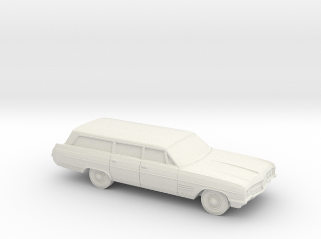 1/87 1964 Buick Wildcat Station Wagon in White Natural Versatile Plastic