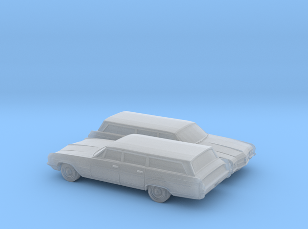 1/160 2X 1964 Buick Wildcat Station Wagon in Smooth Fine Detail Plastic