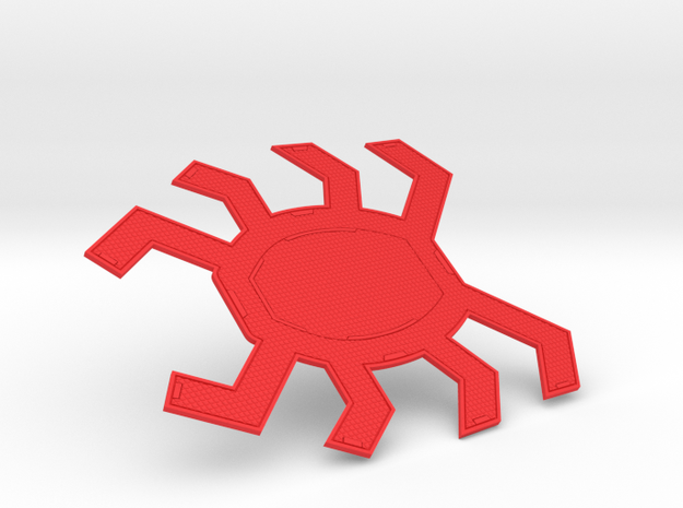 Homecoming Red Back Spider Symbol for Costume in Red Processed Versatile Plastic: Small