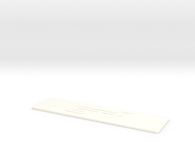 STI Floor Mat Badge for WeatherTech Liners in White Processed Versatile Plastic