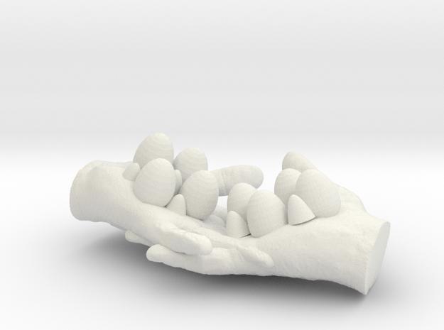 egg box(hand) in White Natural Versatile Plastic