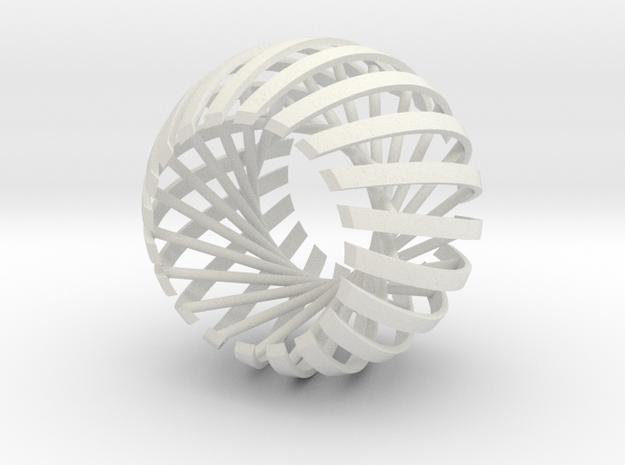 Relative Prime Sphere in White Natural Versatile Plastic: Extra Small