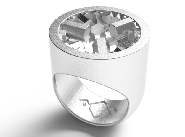 crystal genesys signet ring