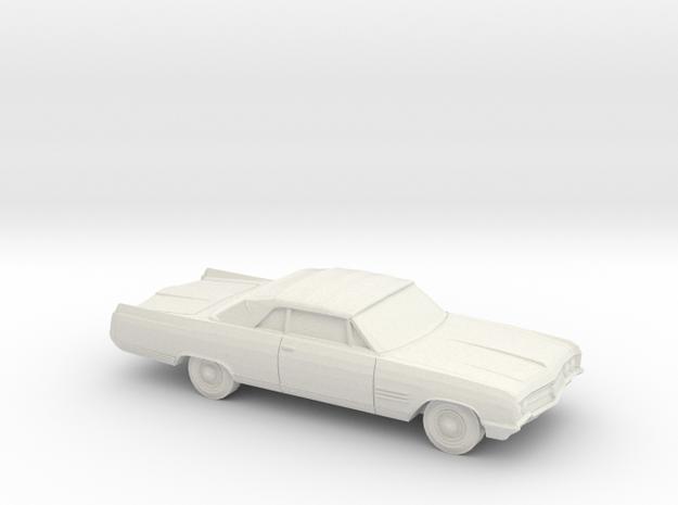 1/87 1964 Buick Wildcat Convertible in White Natural Versatile Plastic