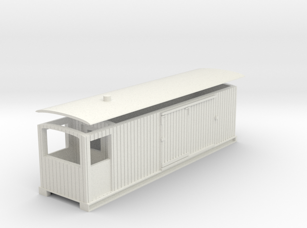 L&B 009 Brake Van Veranda in White Natural Versatile Plastic