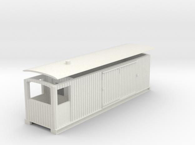 L&B 009 Brake Van Veranda in White Natural Versatile Plastic