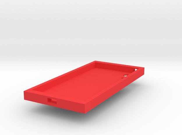 Phone case in Red Processed Versatile Plastic