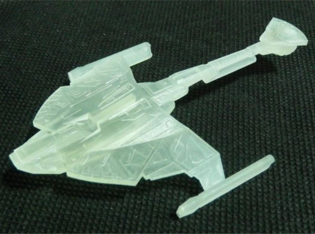 1/2500 D9 Cruiser Z'Gal (with support) in White Natural Versatile Plastic