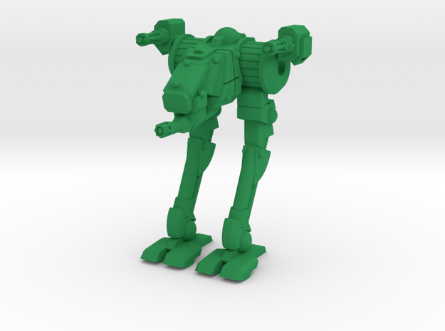 Wyrd Type Combat Walker - 6mm Scale in Green Strong & Flexible Polished
