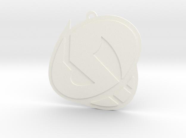 Team Skull Pendant in White Processed Versatile Plastic