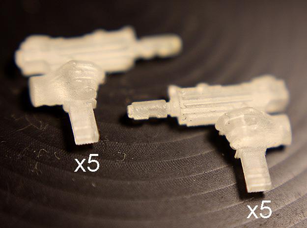 28mm SciFi gang automatic pistols
