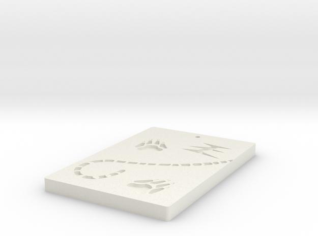 Tiger footprints in White Natural Versatile Plastic