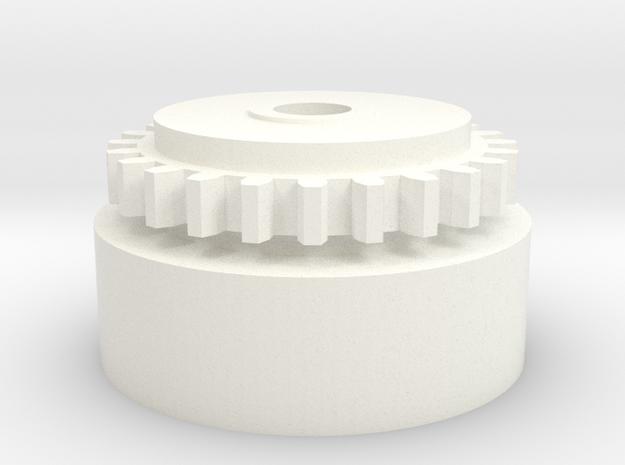 24 ring gear in White Processed Versatile Plastic