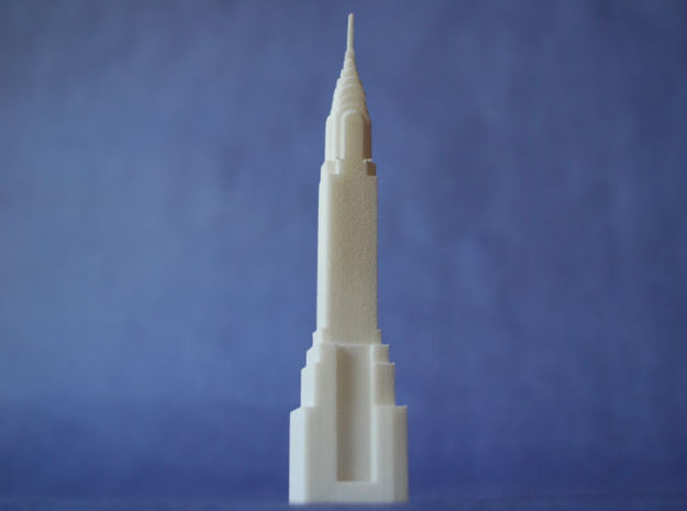 Chrysler Building in White Natural Versatile Plastic