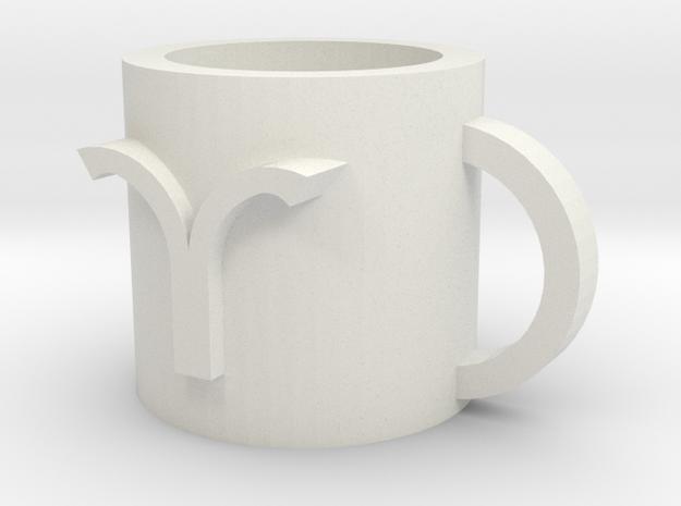 Aries cup in White Natural Versatile Plastic