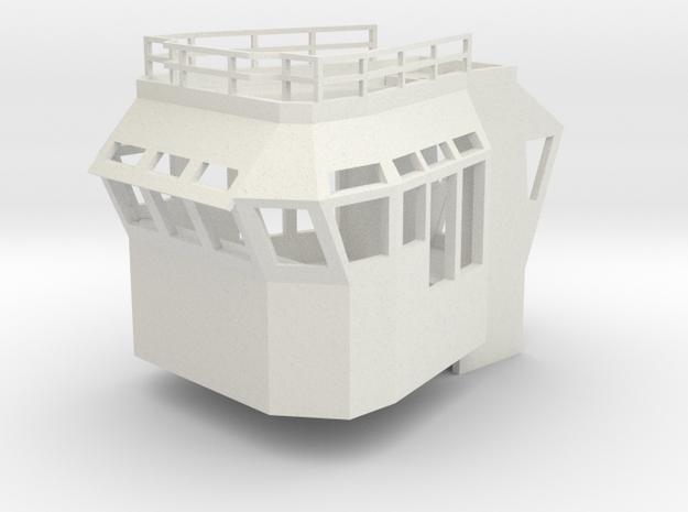 Basic Bridge 1/87 fits Harbor Tug in White Natural Versatile Plastic