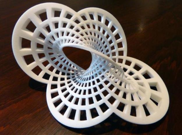 Round Möbius Strip in White Strong & Flexible