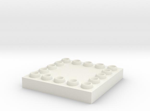 Cap hall 杯墊 in White Natural Versatile Plastic