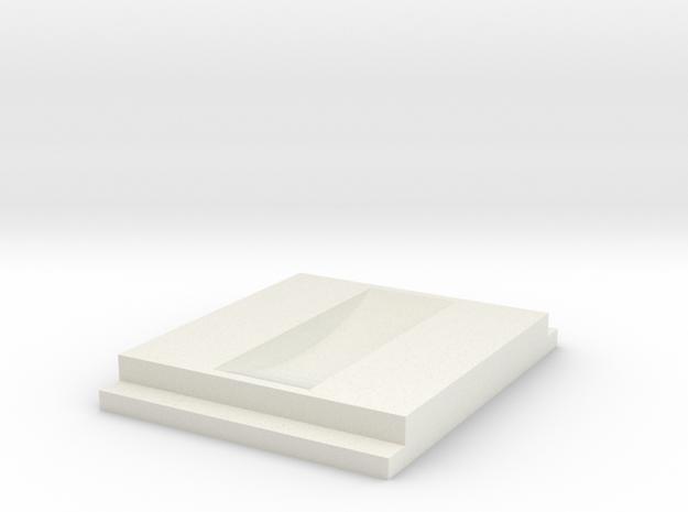 Blind Bracket 21AB in White Natural Versatile Plastic