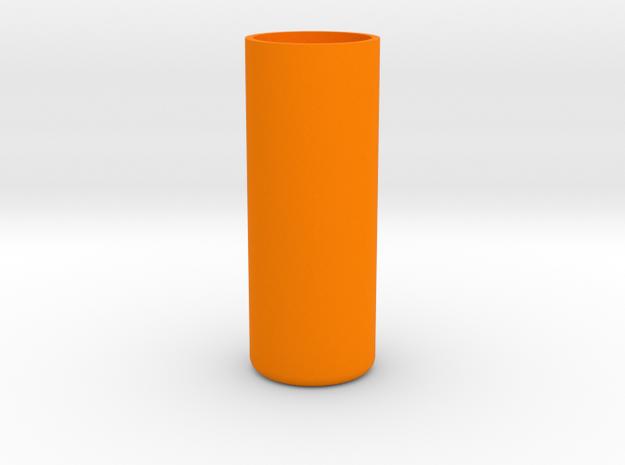 Shotglass Vase in Orange Processed Versatile Plastic