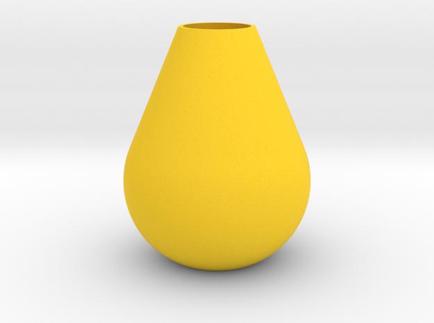Teardrop Vase in Yellow Processed Versatile Plastic