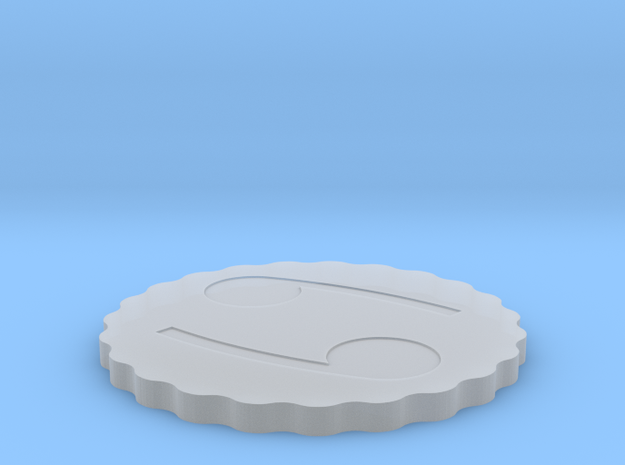 Coaster in Smooth Fine Detail Plastic