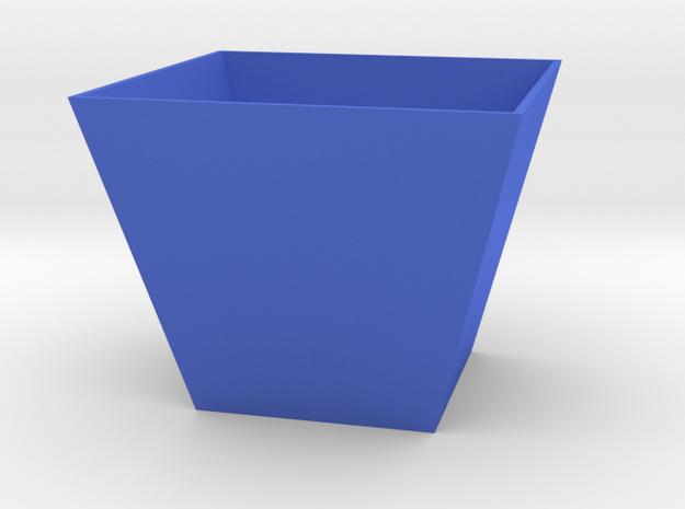 Simple Trapezoidal Planter in Blue Processed Versatile Plastic