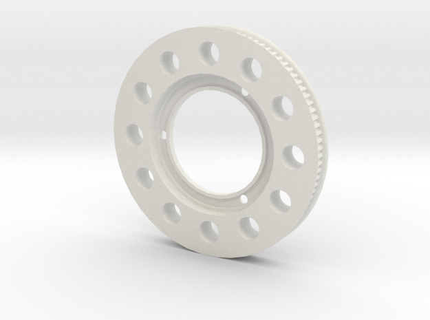 95t Speed Up Pulley for T-REX 500X in White Natural Versatile Plastic