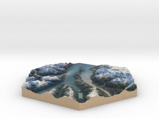 10cm Full-Color Model of Haines, Alaska