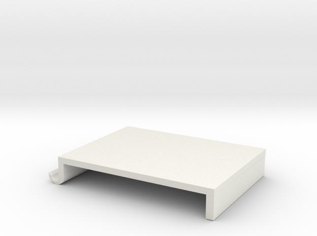 Screen table shelves in White Natural Versatile Plastic