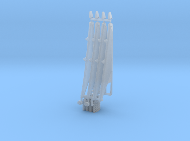 Grid Fins and landing legs Falcon 9 v1.2 Block 4 in Smooth Fine Detail Plastic: 1:144