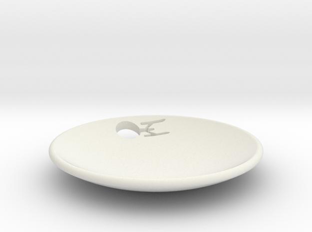 Enterprise Dish Full Cut Out in White Natural Versatile Plastic
