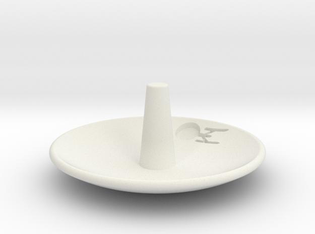 Enterprise Jewelry Dish in White Natural Versatile Plastic