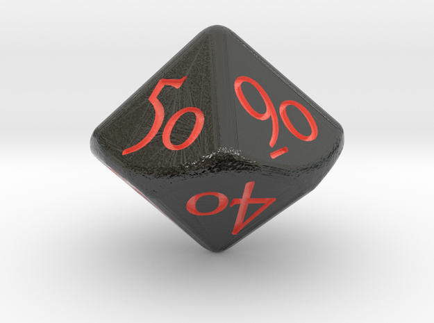 """D10 D&D """"Tens"""" Dice in Glossy Full Color Sandstone"""