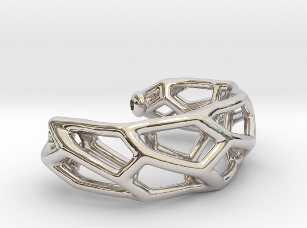Modell 80400 - Voronoi  in Rhodium Plated Brass