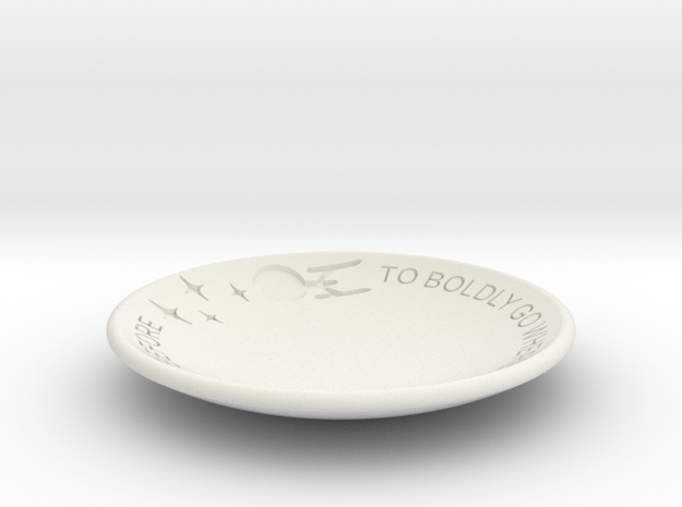 To Boldly Go... Dish in White Natural Versatile Plastic