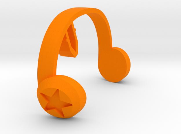 Friendly Octopus Buddy - Headphones in Orange Processed Versatile Plastic